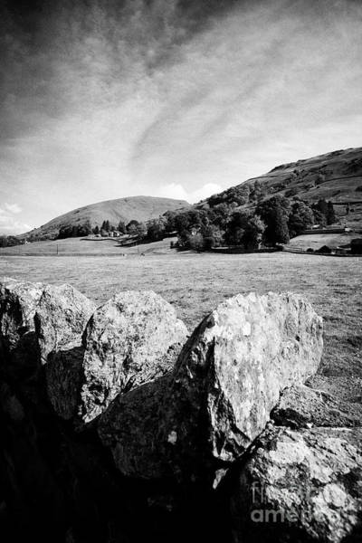 Grasmere Wall Art - Photograph - Lakeland Stone Dry Stone Wall Enclosing Fields And Hills Near Grasmere In The Lake District Cumbria  by Joe Fox
