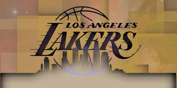 Lakers Skyline Art Print