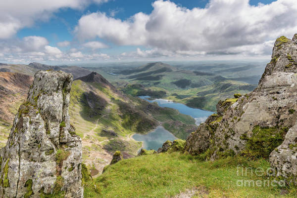 Miners Photograph - Lakes Of Snowdonia by Adrian Evans