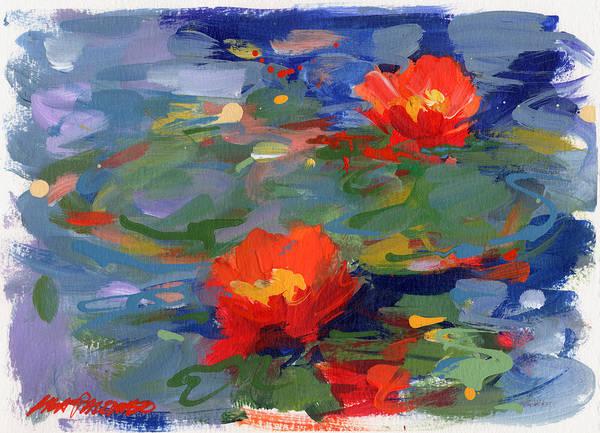 Waterlily Wall Art - Painting - Lakeside #3 by Lisa Palombo