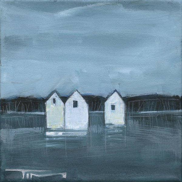 Painting - Lakeside Community Winter by Tim Nyberg