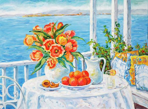 Painting - Lakeside Luncheon by Ingrid Dohm