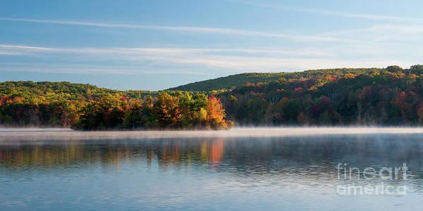 Waterbury Photograph - Lakewood Shimmering - Autumn Lake by JG Coleman