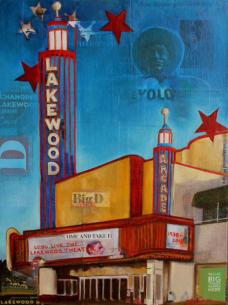 Lone Star Painting - Lakewood Theater 4evr by Katrina Rasmussen