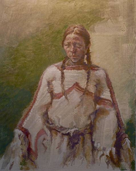 Painting - Lakota Woman by Ellen Dreibelbis