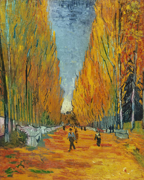 Post-impressionist Painting - L'allee Des Alyscamps  Arles by Vincent van Gogh