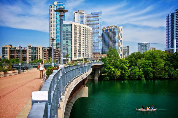 Photograph - Lamar Bridge, Town Lake, And The City Of Austin, Texas by Flying Z Photography by Zayne Diamond