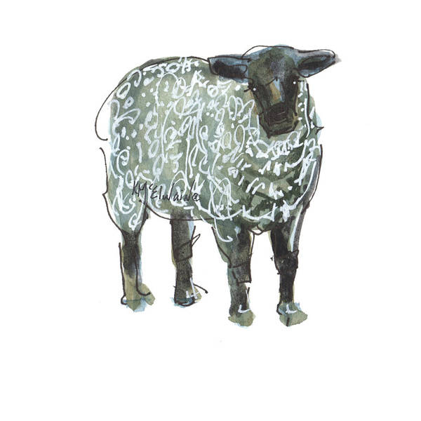Painting - Lamb Art An032 by Kathleen McElwaine