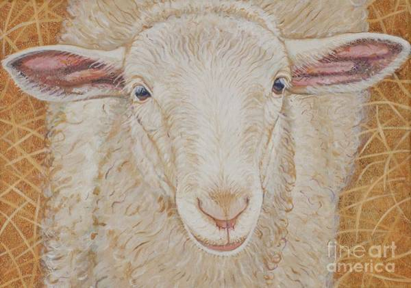 Sheep Painting - Lamb Of God by Christine Belt