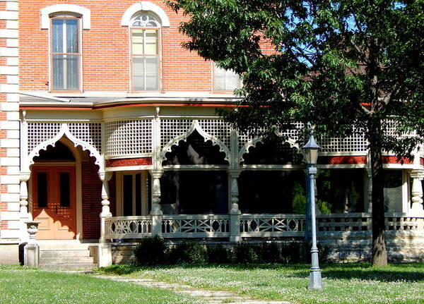 Photograph - Lamberton Italianate Porch by Wild Thing