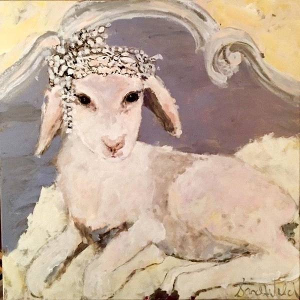 Wall Art - Painting - Lambie Pie 2 by Sandy Welch