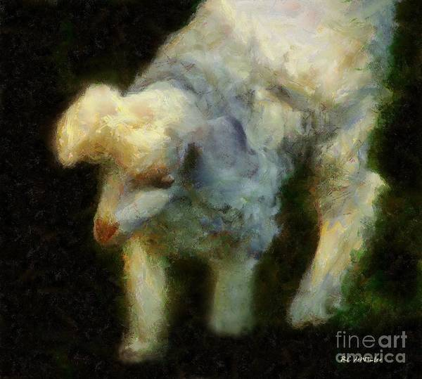 Painting - Lambkin by RC DeWinter