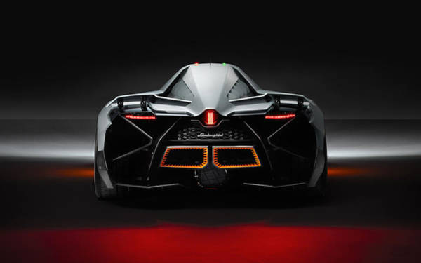 Wall Art - Digital Art - Lamborghini Egoista Concept 6 by Mery Moon