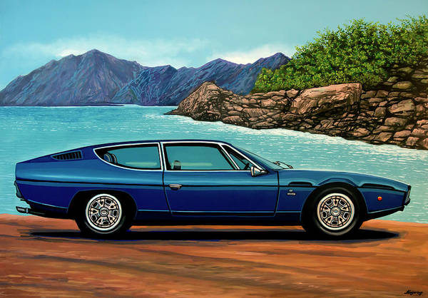 Oldtimer Wall Art - Painting - Lamborghini Espada 1968 Painting by Paul Meijering