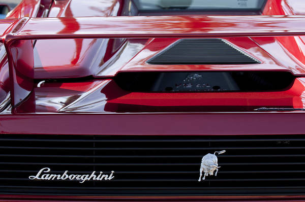 Exotic Car Photograph - Lamborghini Rear View by Jill Reger