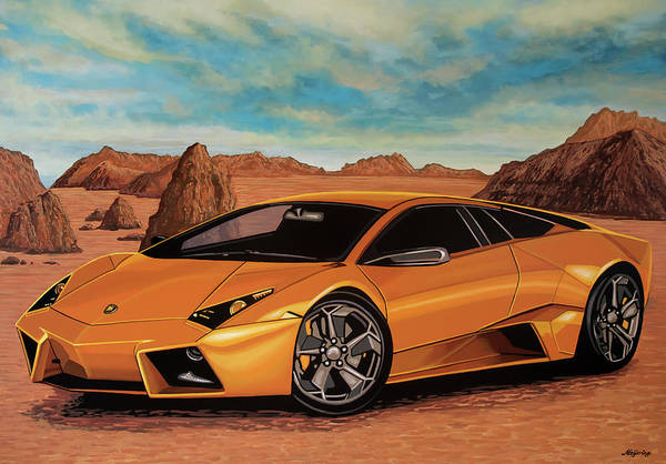 Painting - Lamborghini Reventon 2007 Painting by Paul Meijering