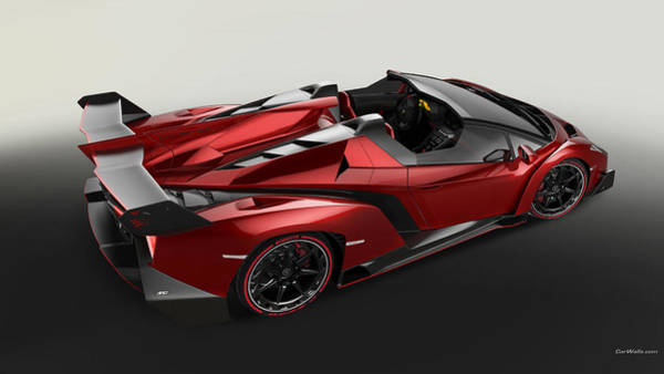 Wall Art - Digital Art - Lamborghini Veneno Roadster by Lissa Barone