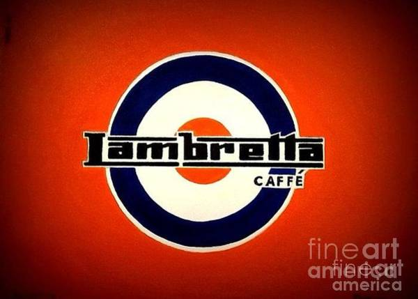 Wall Art - Painting - Lambretta Caffe by Richard John Holden RA