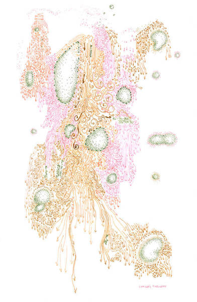Drawing - Laminar And Turbulence by Regina Valluzzi