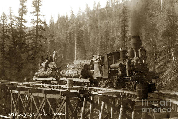 Photograph - Lamoine Lumber And Trading Co. No. 1 Circa 1907 by California Views Archives Mr Pat Hathaway Archives