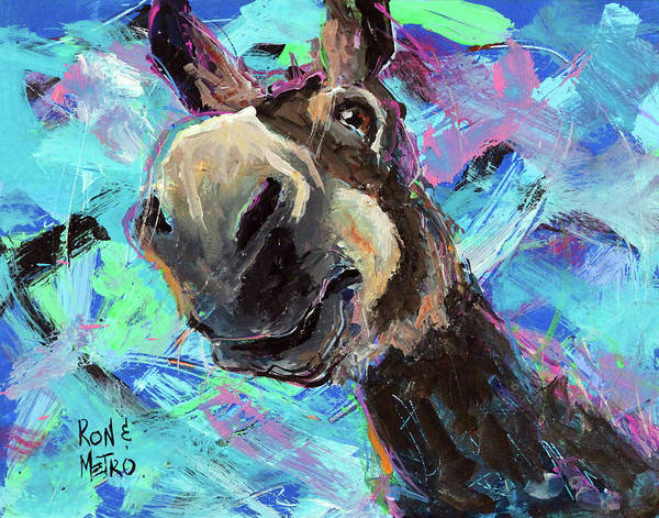Donkey Painting - Lamont by Ron Krajewski