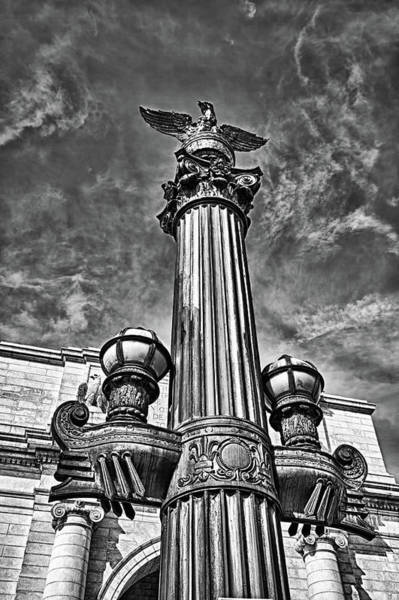 Photograph - Lamp Post At Railroad Station In Washington Dc. by Val Black Russian Tourchin
