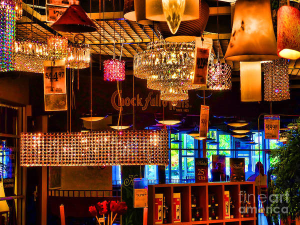 Photograph - Lamp Sale by Jeff Breiman