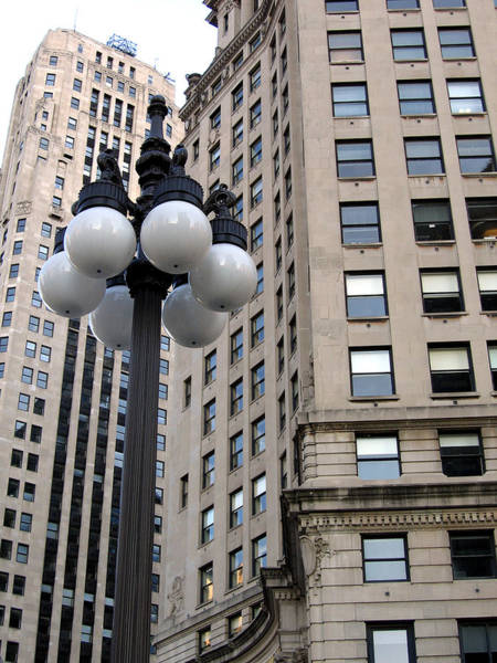 Photograph - Lamps In Chicago by Laura Kinker