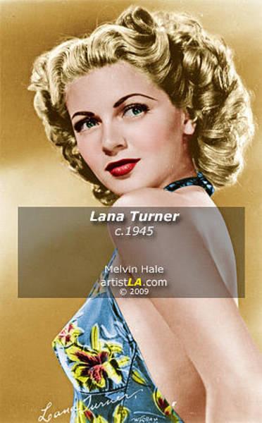 Wall Art - Painting - Lana Turner C1945 by Melvin Hale ArtistLA