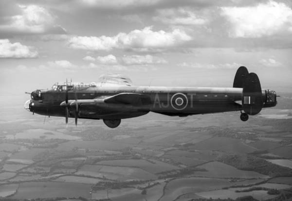 Photograph - Lancaster Aj-t Carrying Upkeep Bw Version by Gary Eason