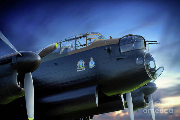 Wall Art - Digital Art - Lancaster Bomber City Of Sheffield by J Biggadike