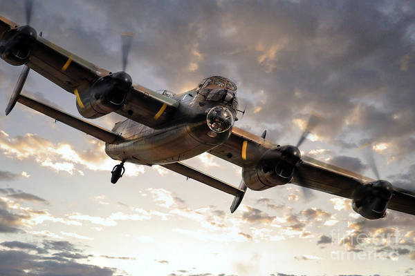 Wall Art - Digital Art - Lancaster Bomber Returns by J Biggadike