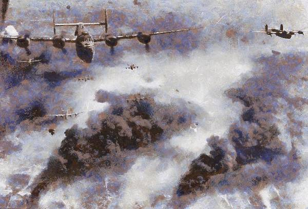Bomber Painting - Lancaster Bombers by Esoterica Art Agency
