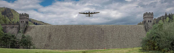 Photograph - Lancaster Over The Derwent Dam by Gary Eason