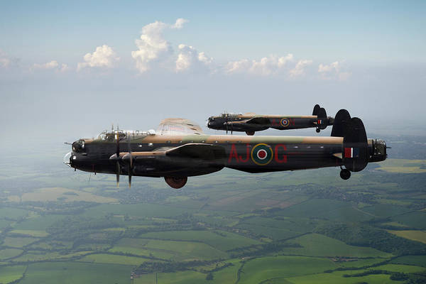 Photograph - Lancasters Aj-g And Aj-n Carrying Upkeeps by Gary Eason