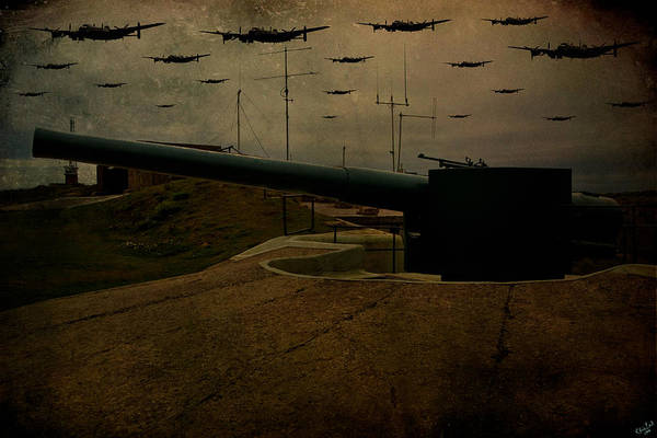 Digital Art - Lancasters Over Newhaven March 30th 1944 by Chris Lord