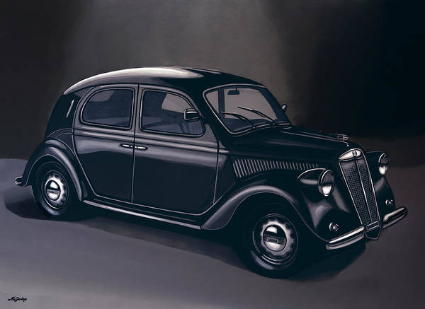 Oldtimer Wall Art - Painting - Lancia Ardea 1939 Painting by Paul Meijering