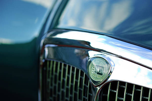 Photograph - Lancia Hood Emblem by Jill Reger