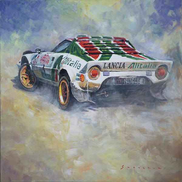 Wall Art - Painting - Lancia Stratos 1976 Rallye Sanremo by Yuriy Shevchuk