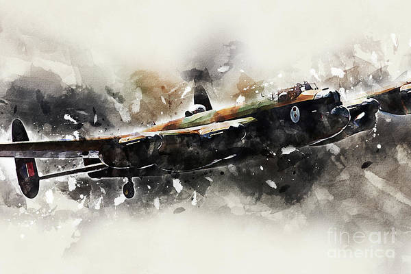 Wall Art - Digital Art - Lancster Bomber Cwhm - Painting by J Biggadike