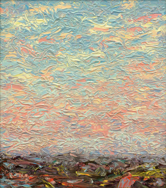 Palette Painting - Land And Sky 3 by James W Johnson