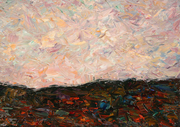 Palette Painting - Land And Sky by James W Johnson