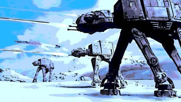Jedi Digital Art - Land Battle by George Pedro