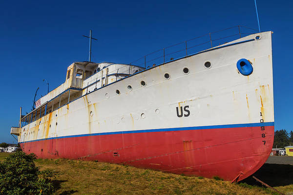 Dry Dock Photograph - Land Locked Cruise Ship by Garry Gay
