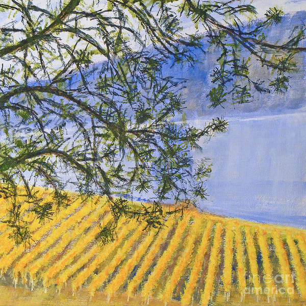Okanagan Valley Painting - Land Of Golden Harvest by Angela Maher