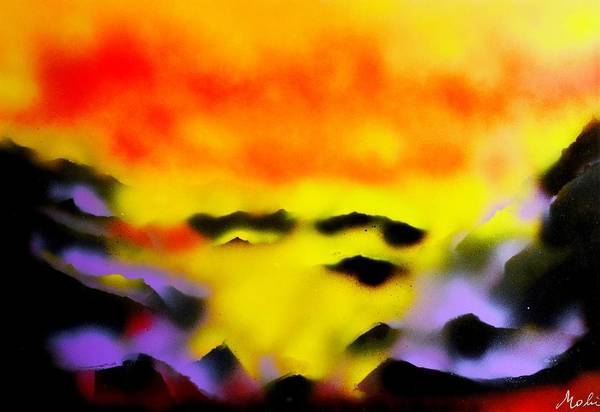Wall Art - Painting - Land Of Heavens by Nandor Molnar
