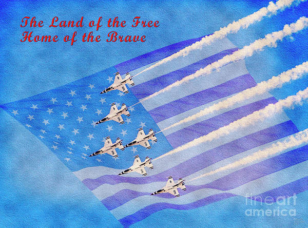 Mixed Media - Land Of The Free Home Of The Brave by David Millenheft