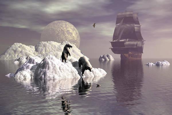 Bryce Digital Art - Land Of The Midnight Sun 1 by Claude McCoy