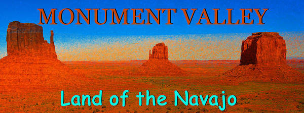 Wall Art - Photograph - Land Of The Navajo Pano Work One by David Lee Thompson