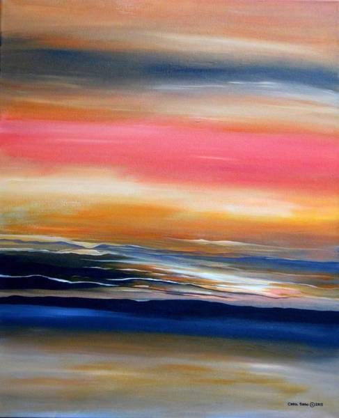 Wall Art - Painting - Land, Sea And Sky by Carol Sabo
